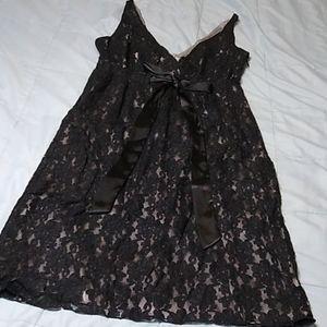 New York & Company Black Lace Dress Silver 6